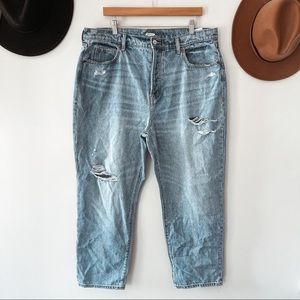 OLD NAVY   Distressed Button Fly Jeans Sz 18